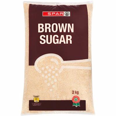 SPAR SUGAR BROWN POLY BAG 2KG