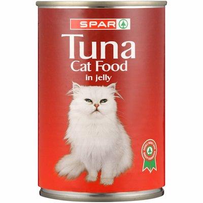 SPAR CAT FOOD TUNA IN JELLY 400G