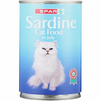 SPAR SARDINE CAT FOOD IN JELLY 400G