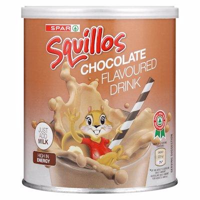 SPAR SQUILLOS CHOCOLATE FLAVOURED DRINK 500G