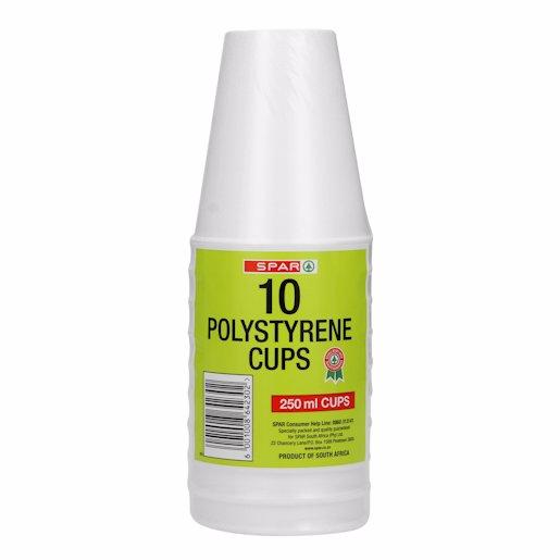 SPAR POLY CUPS 10'S