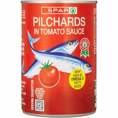 SPAR PILCHARDS IN TOMATO 400GR