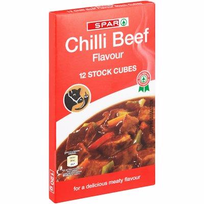 SPAR STOCK CUBES CHILLI BEEF 12'S