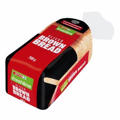 FRESHLINE SLICED BROWN BREAD 700GR