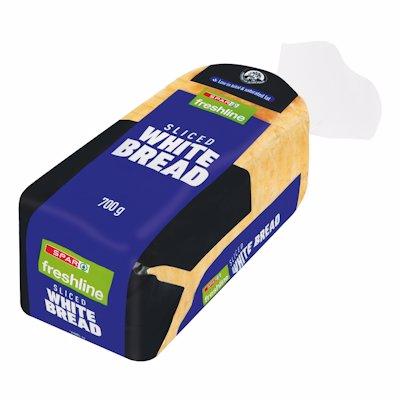 FRESHLINE SLICED WHITE BREAD 700GR