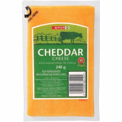 SPAR CHEESE CHEDD VAC PK 240GR