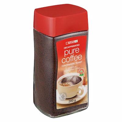 SPAR PURE COFFEE DECAF 200G