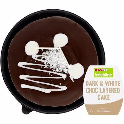 FRESHLINE DARK & WHITE CHOCOLATE CAKE 1'S
