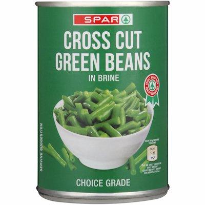 SPAR CROSS CUT GREEN BEANS IN BRINE 410G