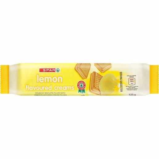 SPAR BISCUIT CREAMS LEMON 125GR