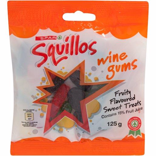 SPAR SQUILLO WINE GUMS 125GR