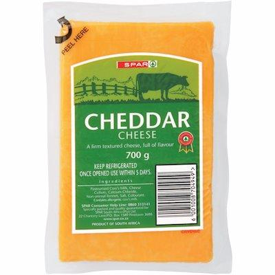 SPAR CHEESE CHEDDAR 700GR