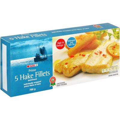 SPAR HAKE FILLET FR PRIME 700GR