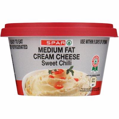 SPAR MEDIUM FAT CREAM CHEESE SWEET CHILLI 175G