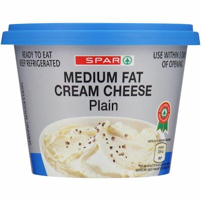SPAR MEDIUM FAT CREAM CHEESE PLAIN 250G