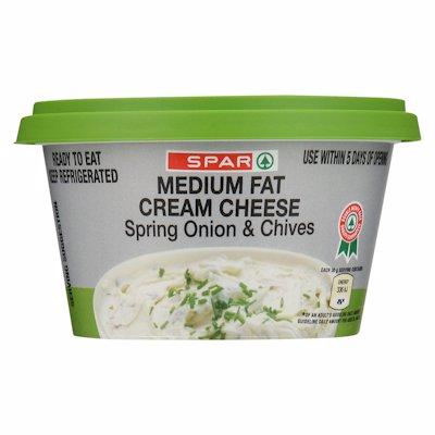 SPAR MEDIUM FAT CREAM CHEESE SPRING ONION 175G