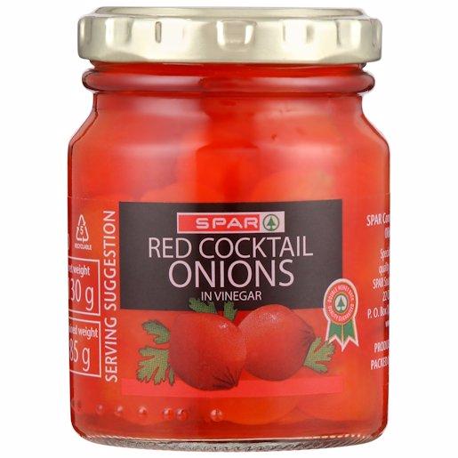 SPAR COCKTAIL ONIONS RED 130GR