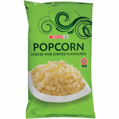 SPAR PCORN CHEESE&CHIVES 90GR
