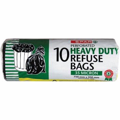 SPAR REFUSE BAGS H/DUTY 10'S