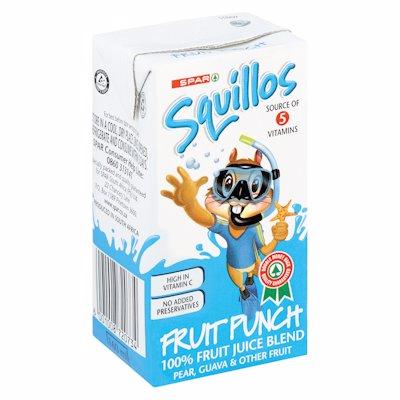 SPAR SQUILLOS FRUIT PUNCH 100% FRUIT JUICE 160ML