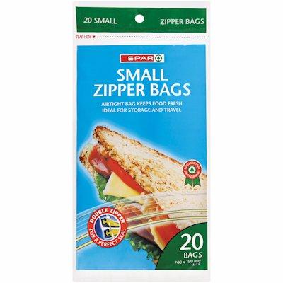 SPAR SMALL ZIPPER BAGS 20'S