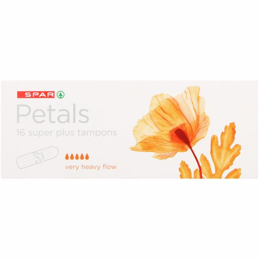 SPAR PETALS TAMPONS S/PL 16'S