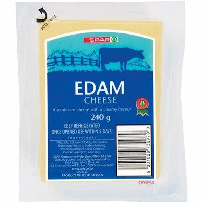 SPAR CHEESE EDAM V/P 240GR