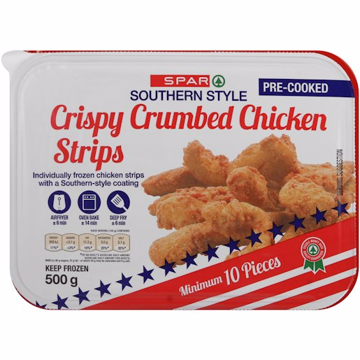 SPAR CR CHKN STRIPS 500GR