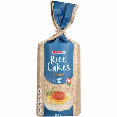 SPAR RICE CAKES PLAIN 100G