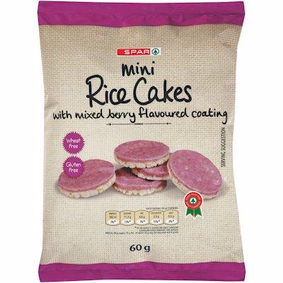 SPAR MINI RICE CAKES MIX BERRY 60G