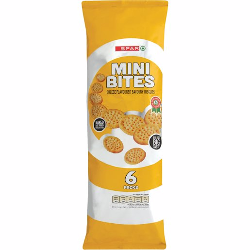 SPAR MINI BITES CHEESE 6'S