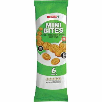 SPAR MINI BITES CHEESE ONION 6'S