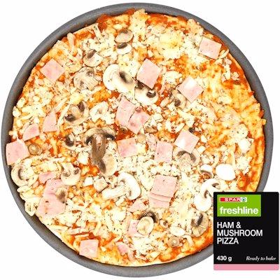 FRESHLINE PIZZA  HAM & MUSHROOM 430GR