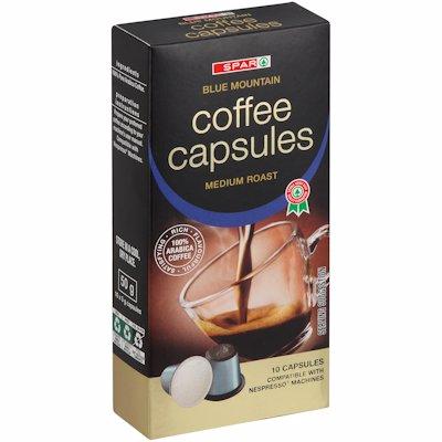 SPAR COFFEE CAPSULES BLUE MOUNTAIN 10 X 5G