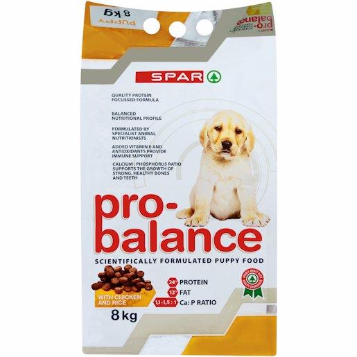 SPAR P/B DOG PUP CHIC 8KG
