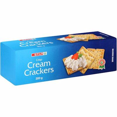 SPAR CREAM CRACKERS 200GR