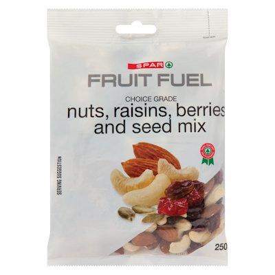 SPAR NUTS RAISINS BERRIES & SEED MIX 250G