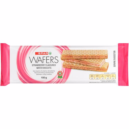 SPAR WAFER BISC STRAW 100GR