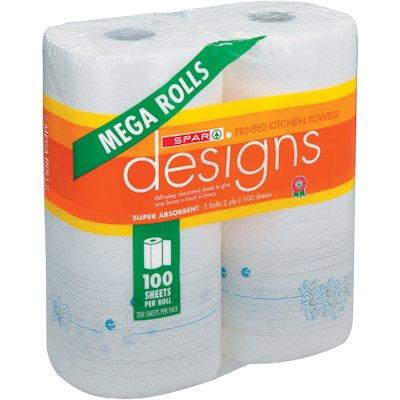 SPAR KITCHEN TOWELS MEGA BRIGHT 2'S