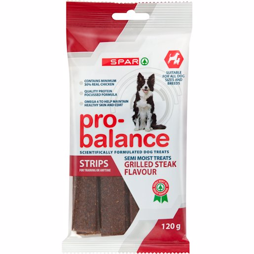 SPAR P/B DOG STRIP STEAK 120GR