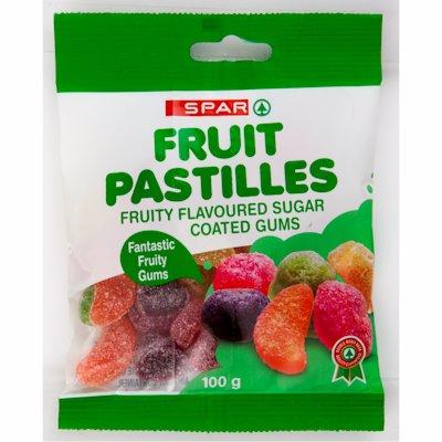 SPAR FRUIT PASTILLES 100GR