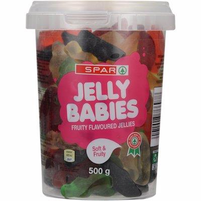 SPAR JELLY BABIES TUB 500GR