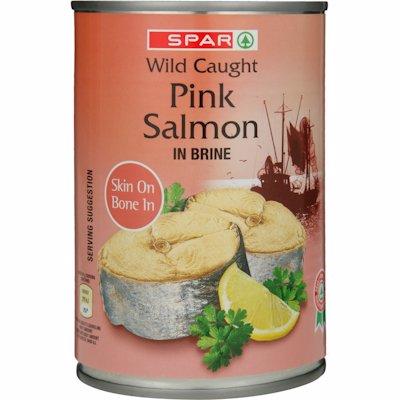 SPAR PINK SALMON IN BRINE 400GR