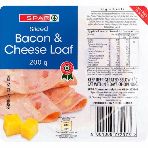 SPAR COLD MEAT BACON&CHSE 200GR