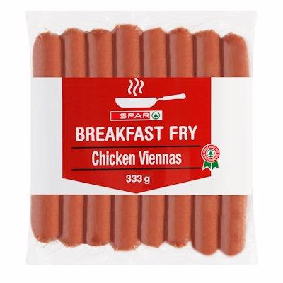 SPAR BREAKFAST FRY CHICKEN VIENNAS 333GR