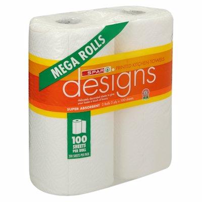 SPAR KITCHEN TOWELS MEGA WHITE 2'S