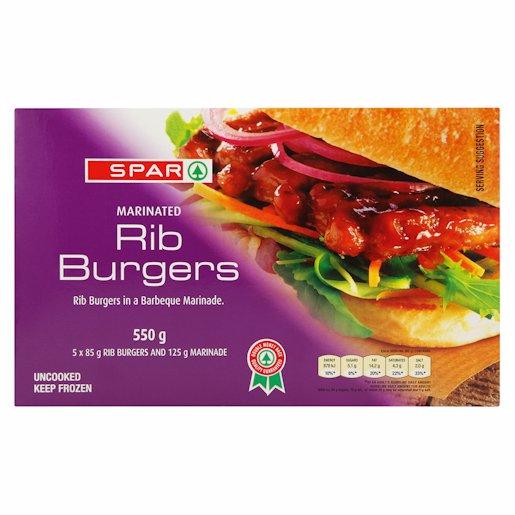 SPAR RIB BURGER BARBEQUE 550GR