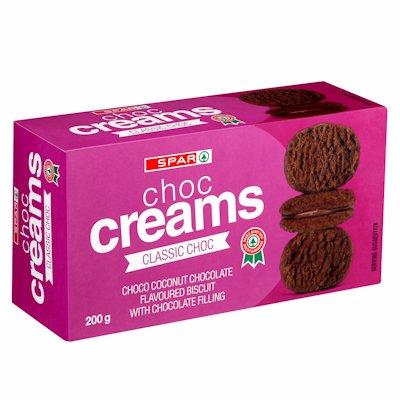 SPAR CHOCOLATE CREAMS CLASSIC CHOCOLATE 200G
