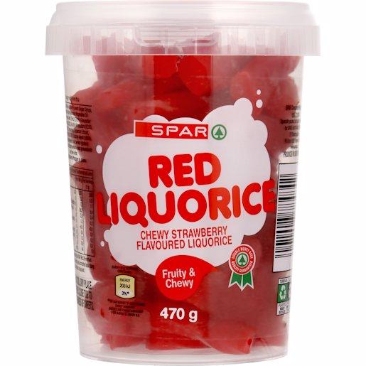 SPAR LIQUORICE RED 470GR