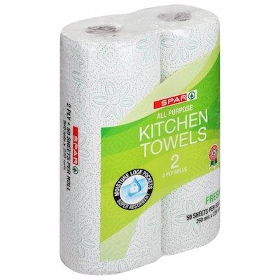 SPAR KITCHEN TOWEL FRESH 2PLY 2'S